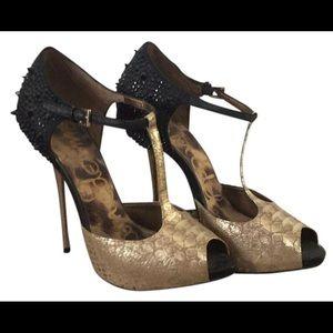Sam Edelman Shoes - Sam Edelman Scarlett Spiked T-Strap Heels